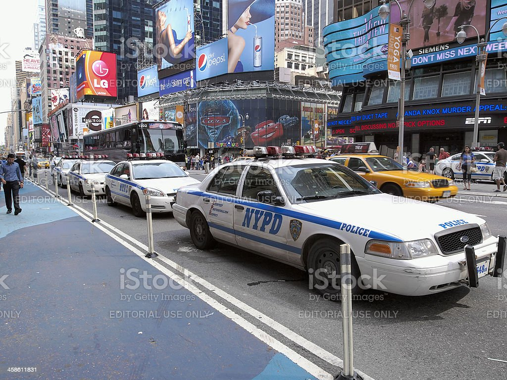 NYPD at Times Square royalty-free stock photo
