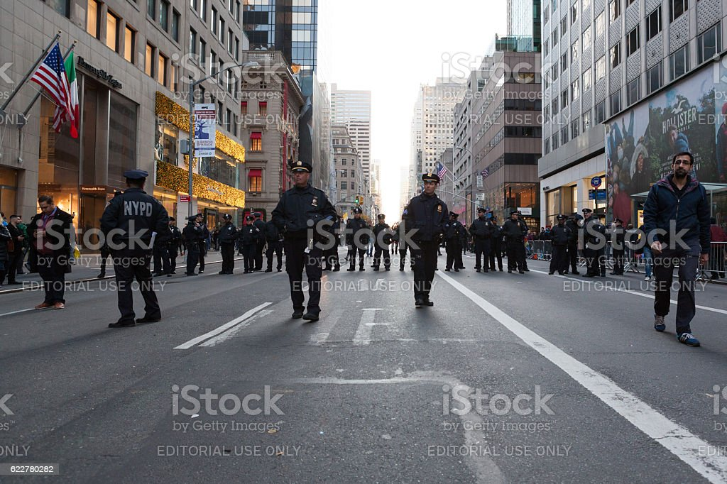 NYPD at Trump Tower protest stock photo