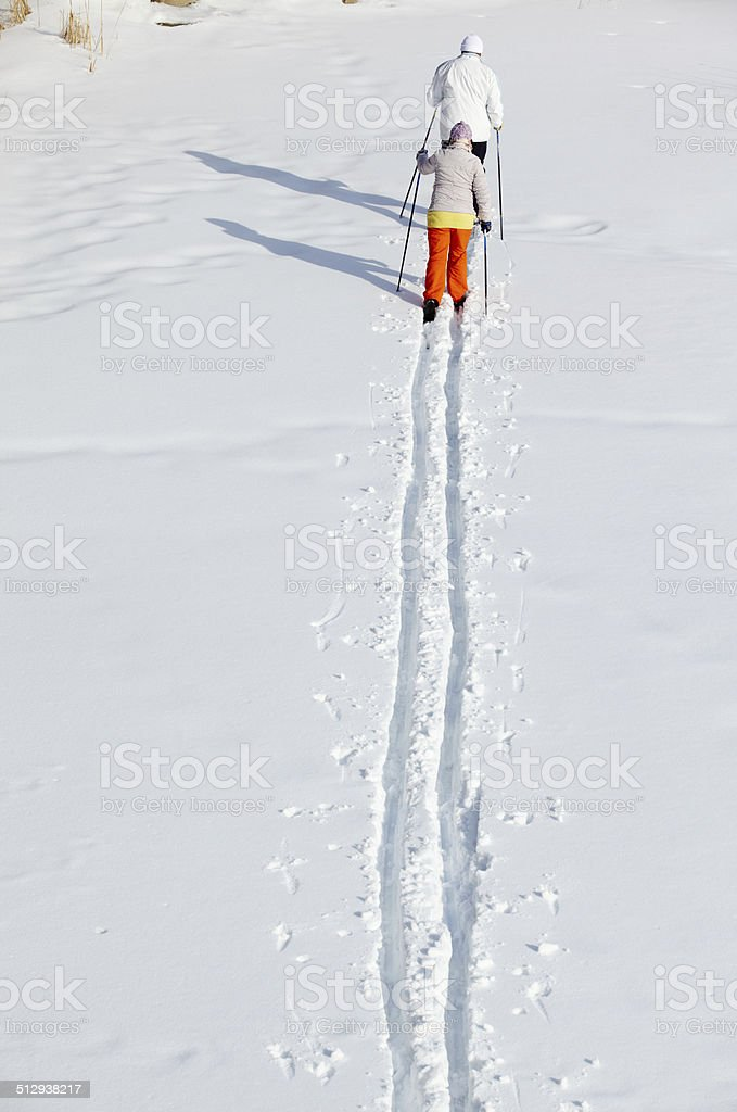 At winter resort stock photo