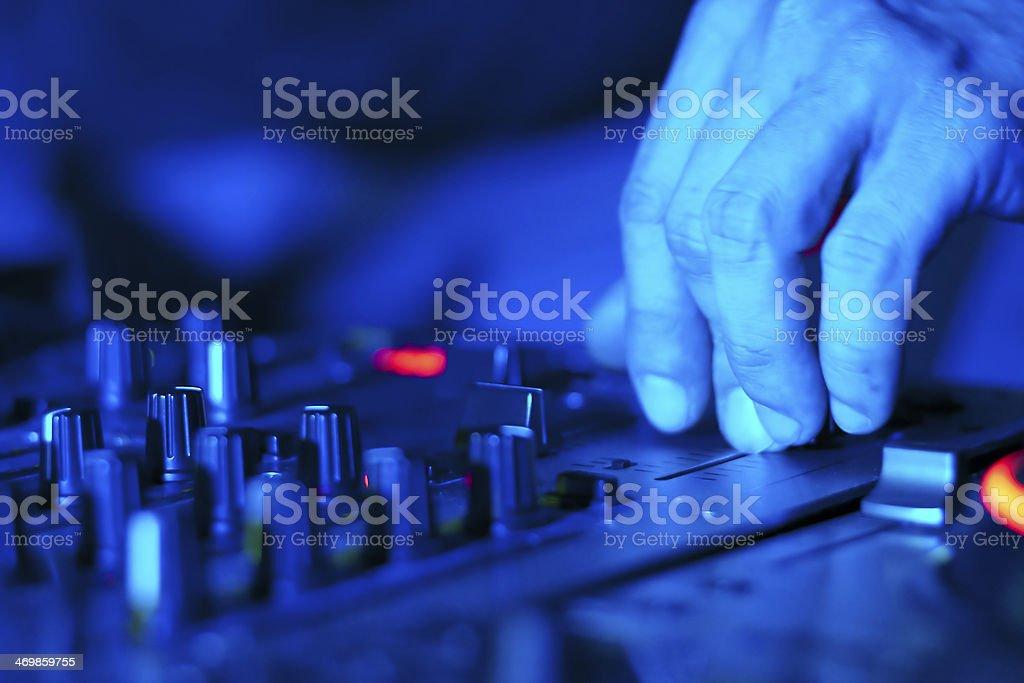 DJ at work royalty-free stock photo