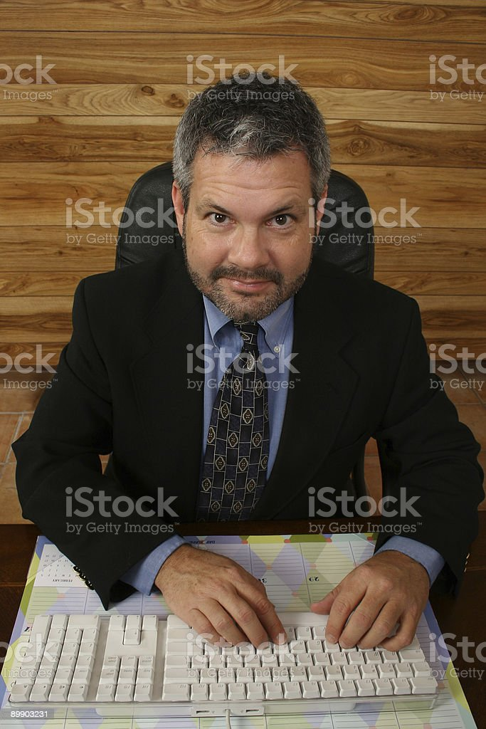 At Work royalty-free stock photo