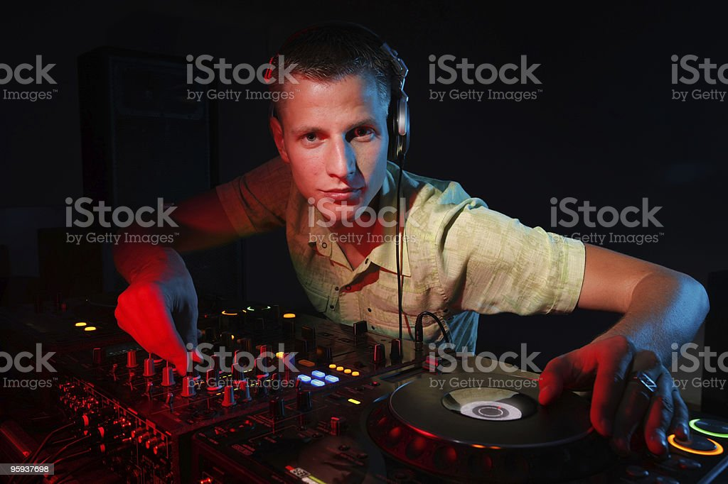 DJ at work royalty-free stock photo