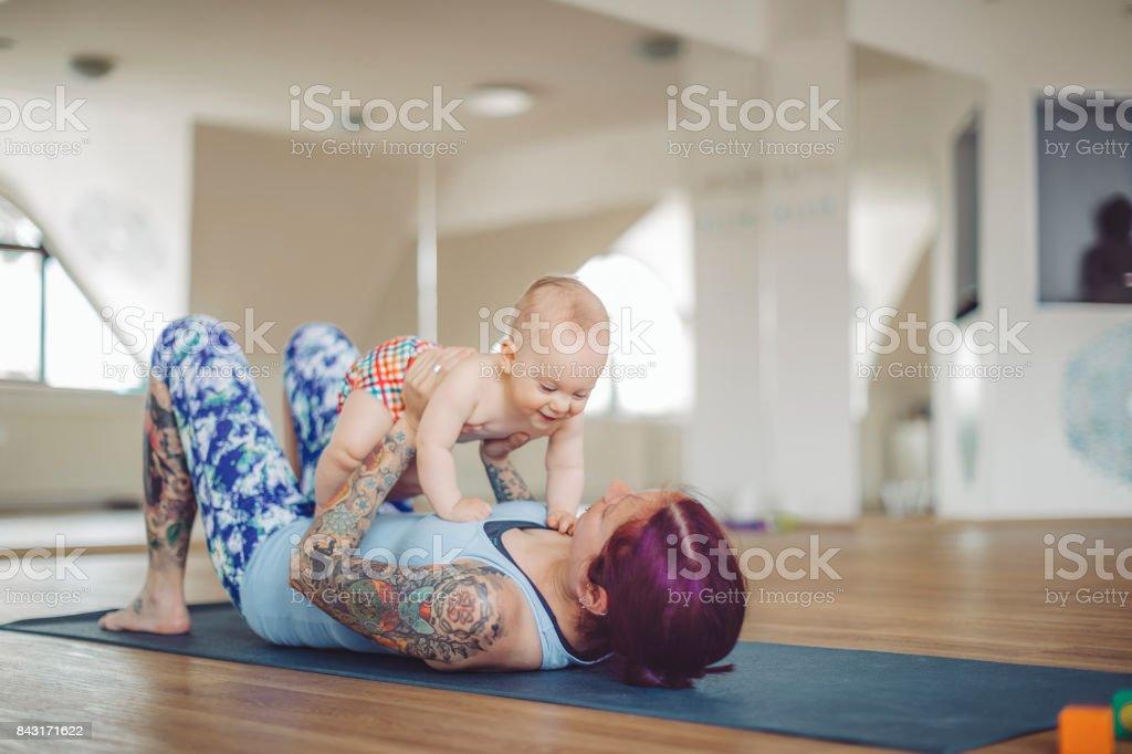 Au cours d'yoga - Photo