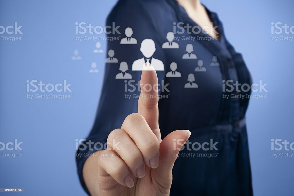 CRM at your finger tips for human resource personnel royalty-free stock photo