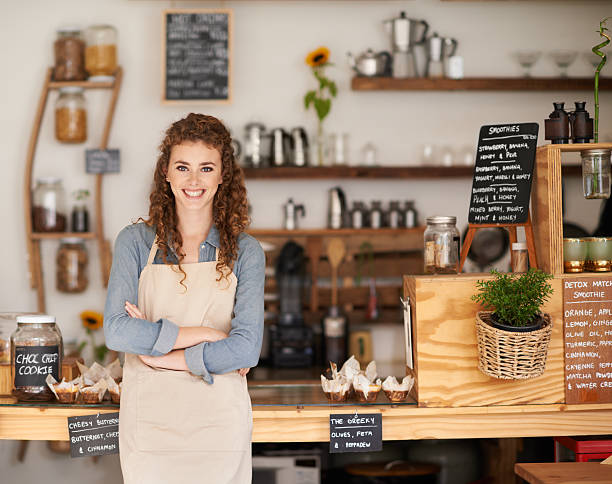 at your service! - store counter stock photos and pictures