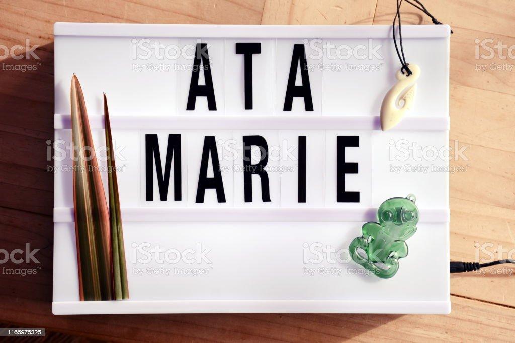 Ata Marie Wort Bedeutet Guten Morgen In Maori Te Reo In