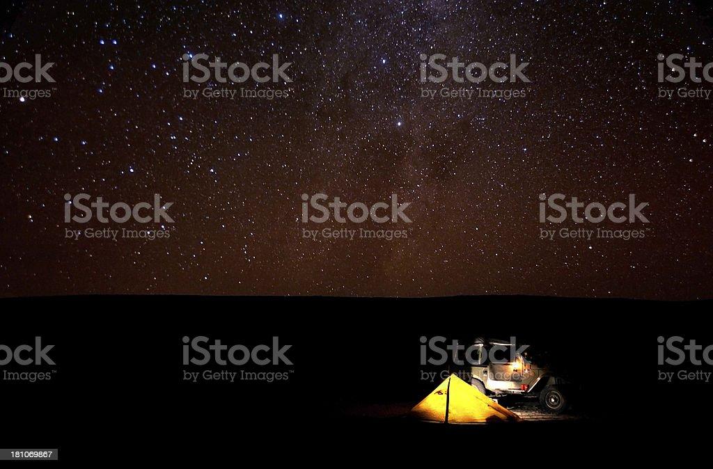 Atacama Camp in Chile stock photo