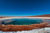 Hidden lagoons of Baltinache, atacama desert