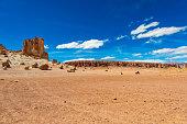 Landscape of Tara salar in Atacama region