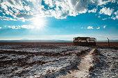 Paisagem na região do Salar do Atacama no deserto do Atacama, Chile