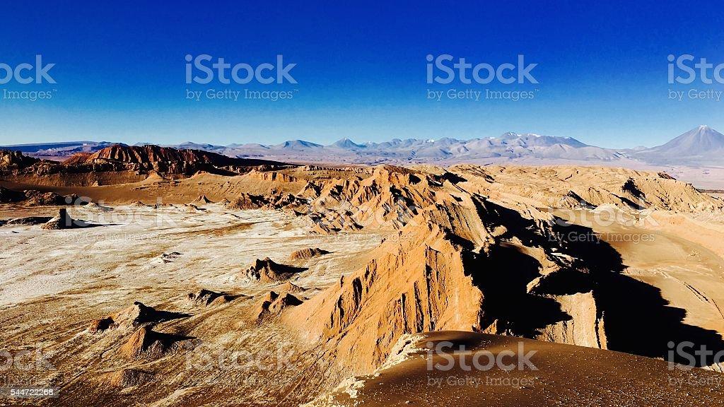 Atacama Wastelands in Chile stock photo