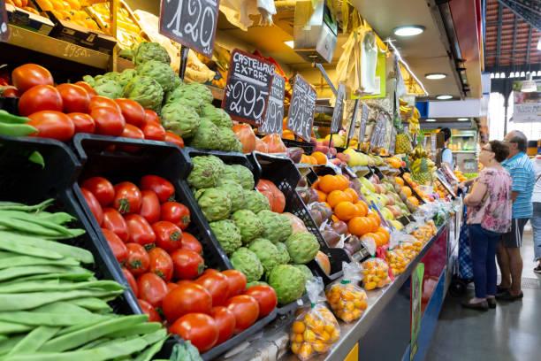Atarazanas Market in Malaga, Spain stock photo