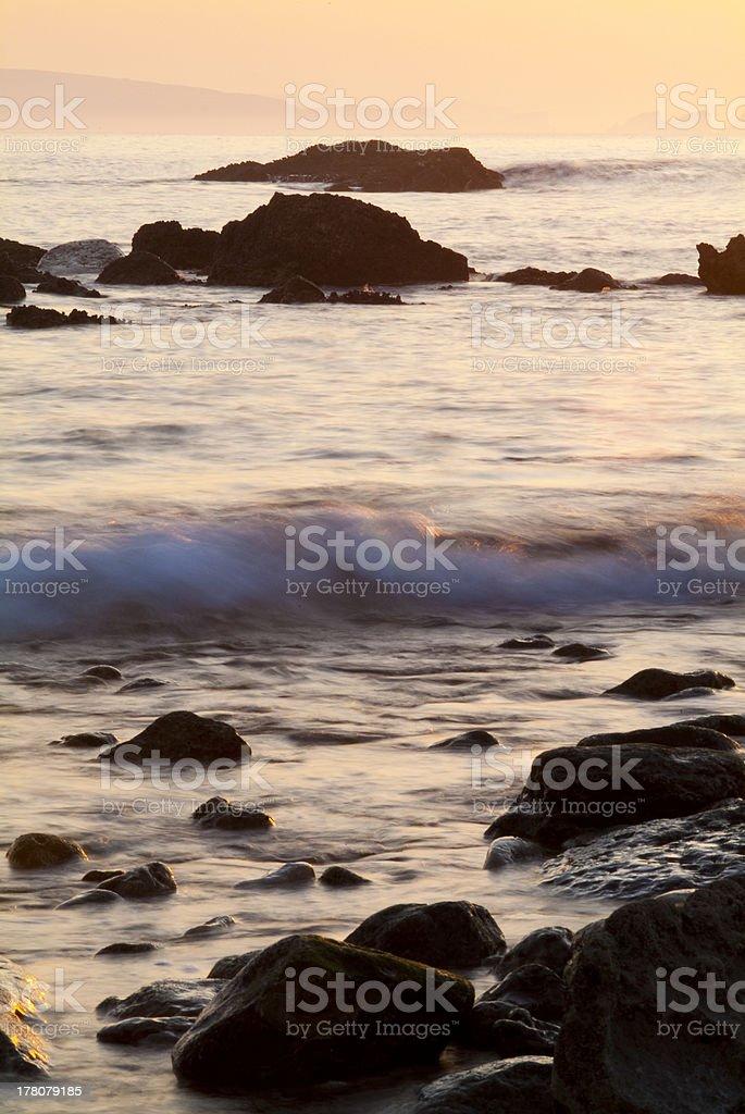 Atardecer en la costa de Liencres, Cantabria royalty-free stock photo