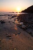 Atardecer en la costa de Liencres, Cantabria