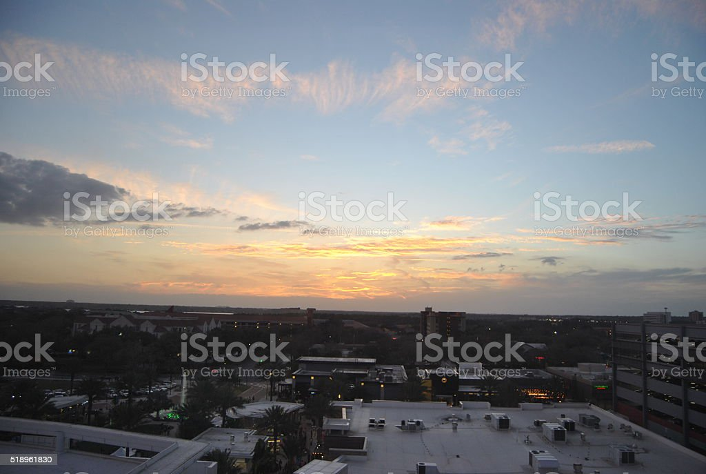 Atardecer en Orlando, Florida, (EEUU - foto de stock