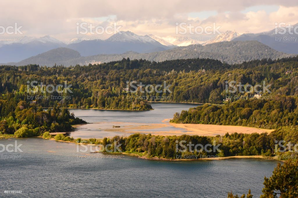 Atardecer patagónico stock photo