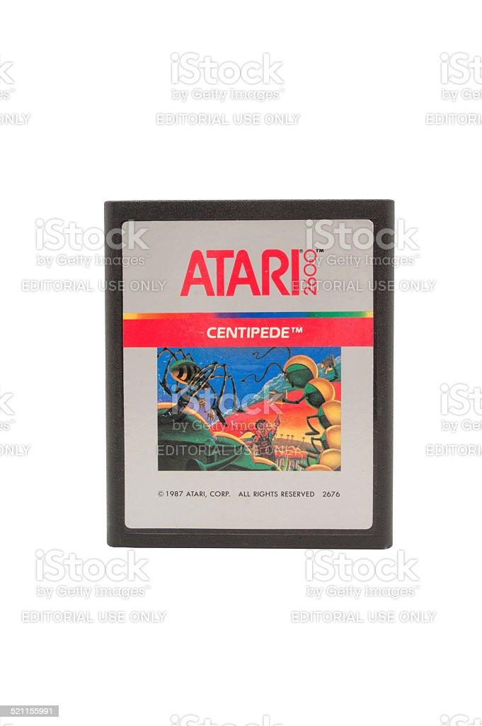 Atari 2600 Centipede Game Cartridge stock photo