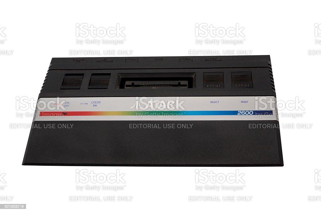 Atari 2600 Console stock photo