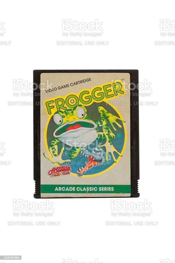 Atari 2600 Frogger Game Cartridge stock photo