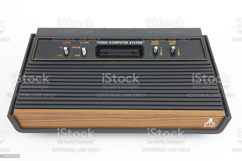 Atari 2600 Vintage Video Game Console royalty-free stock photo