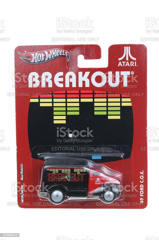 Atari Breakout 1949 Ford Hot Wheels Diecast Toy Car stock photo