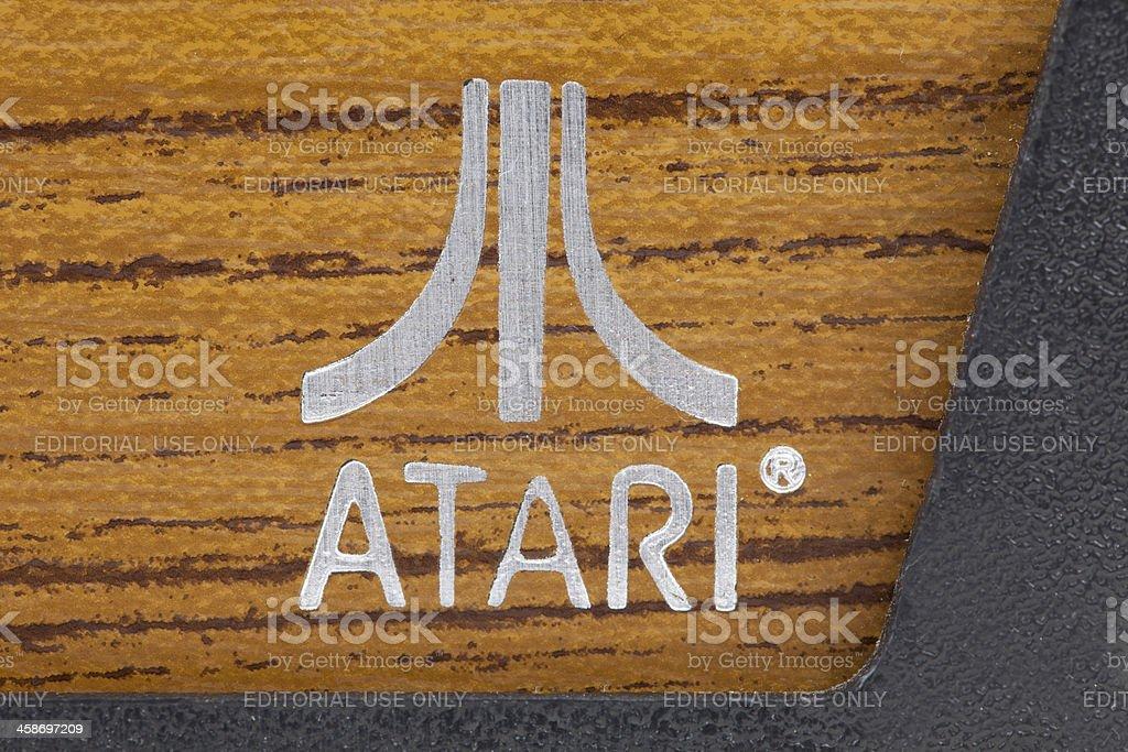 Atari Video Game Company Logo royalty-free stock photo