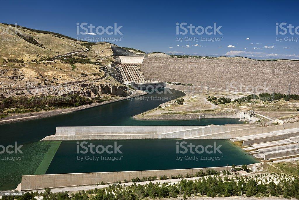 Atatürk Dam stock photo