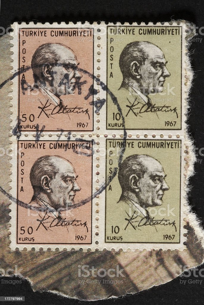 Atatürk postage stamp stock photo