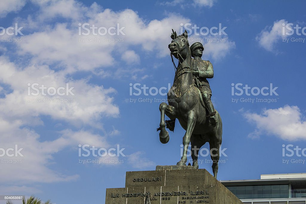 Atatürk Statue, Turkey-İzmir stock photo