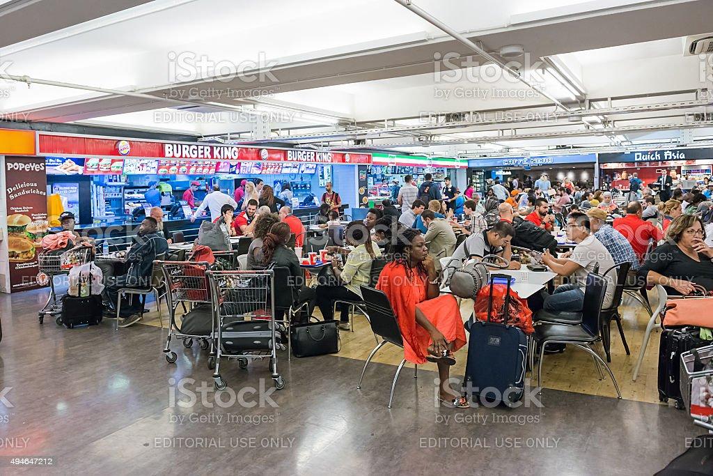 Ataturk Airport Food Court stock photo
