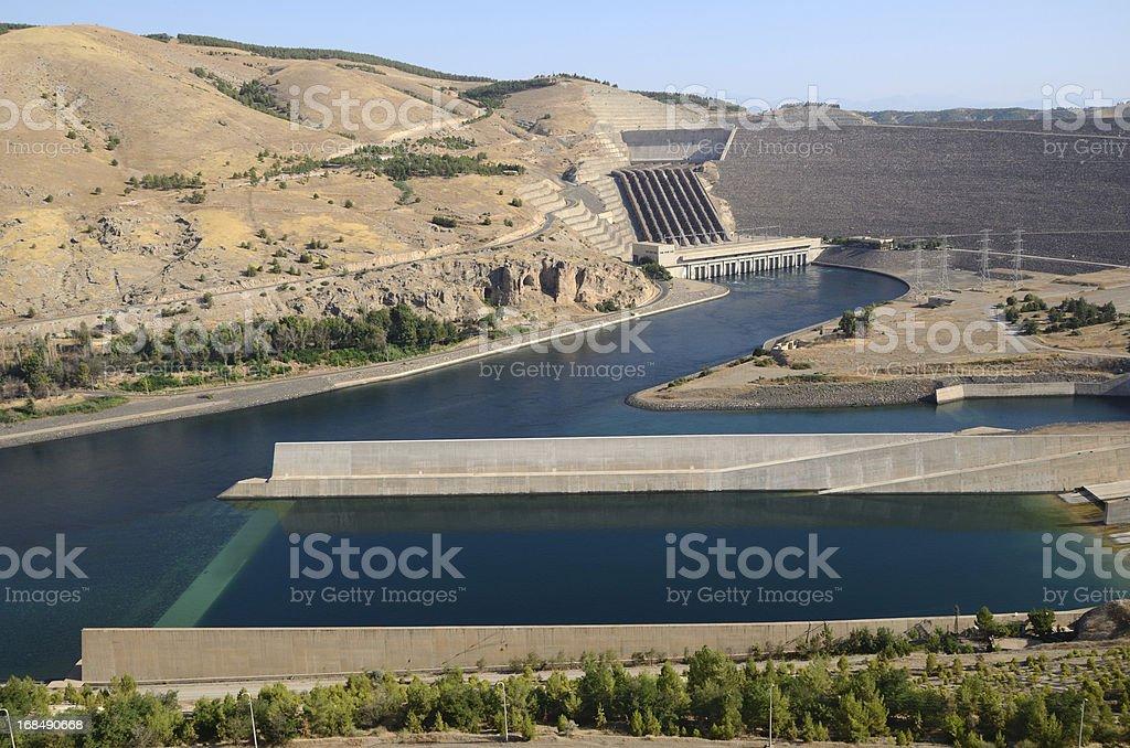 Ataturk dam stock photo
