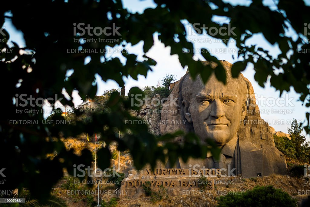 Ataturk sculptıre stock photo