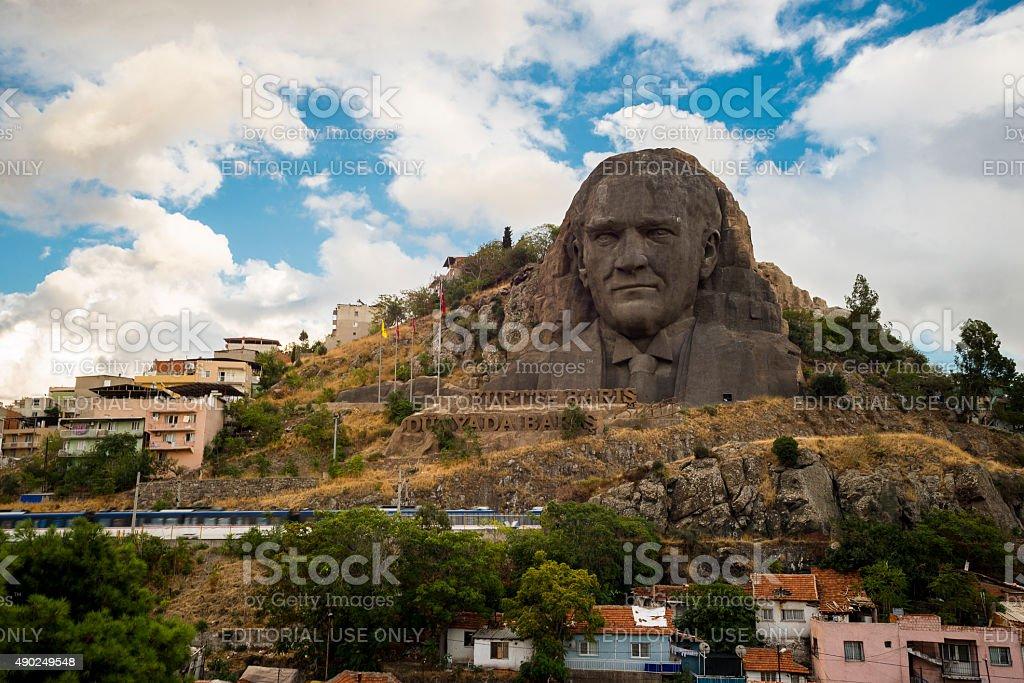 Ataturk sculpture stock photo