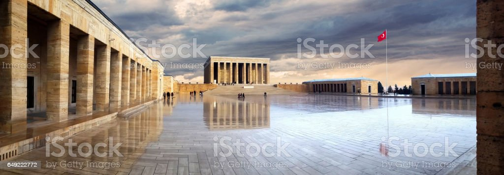Ataturk's Mausoleum in Ankara, Turkey stock photo