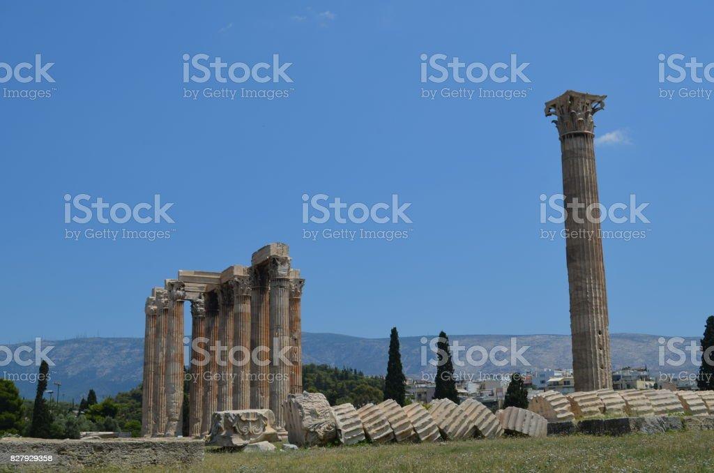 Atenas, a cidade de deuses e mitologia stock photo