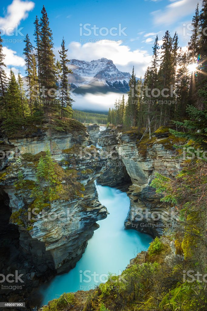 Athabasca Falls, Canada stock photo