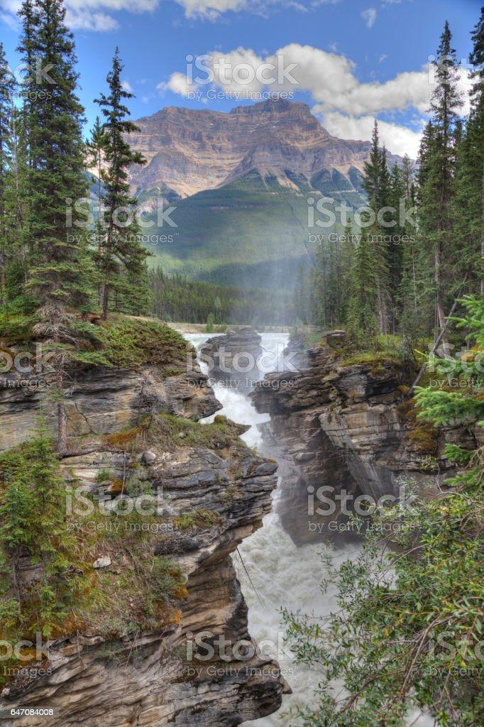 Athabasca Falls, Jasper National Park, Alberta, Canada. stock photo