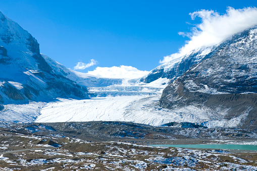 Athabasca Glacier Columbia Icefields Canada Stock Photo - Download Image Now