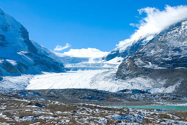 Athabasca glacier Columbia Icefields, Canada stock photo