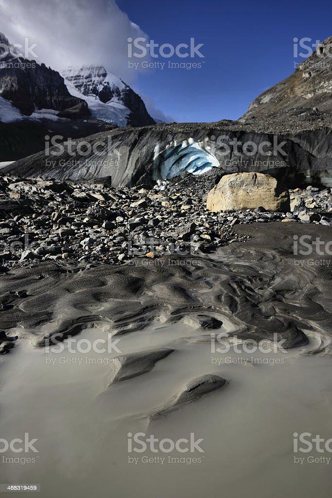 Athabasca Glacier Jasper National Park stock photo