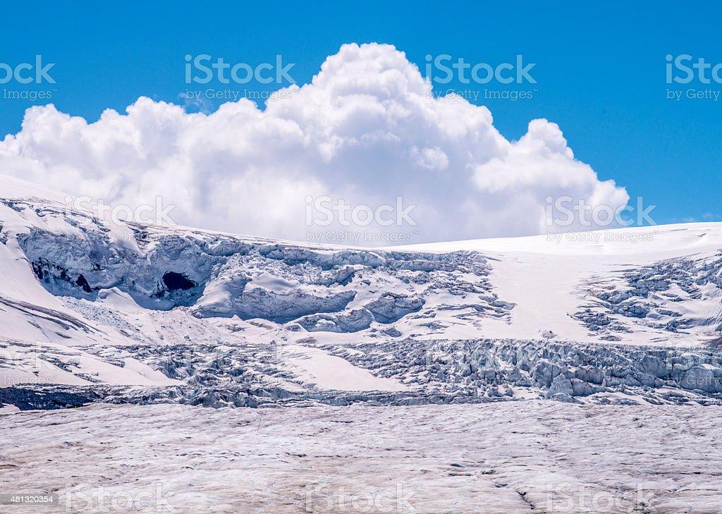 Athabasca Glacier stock photo
