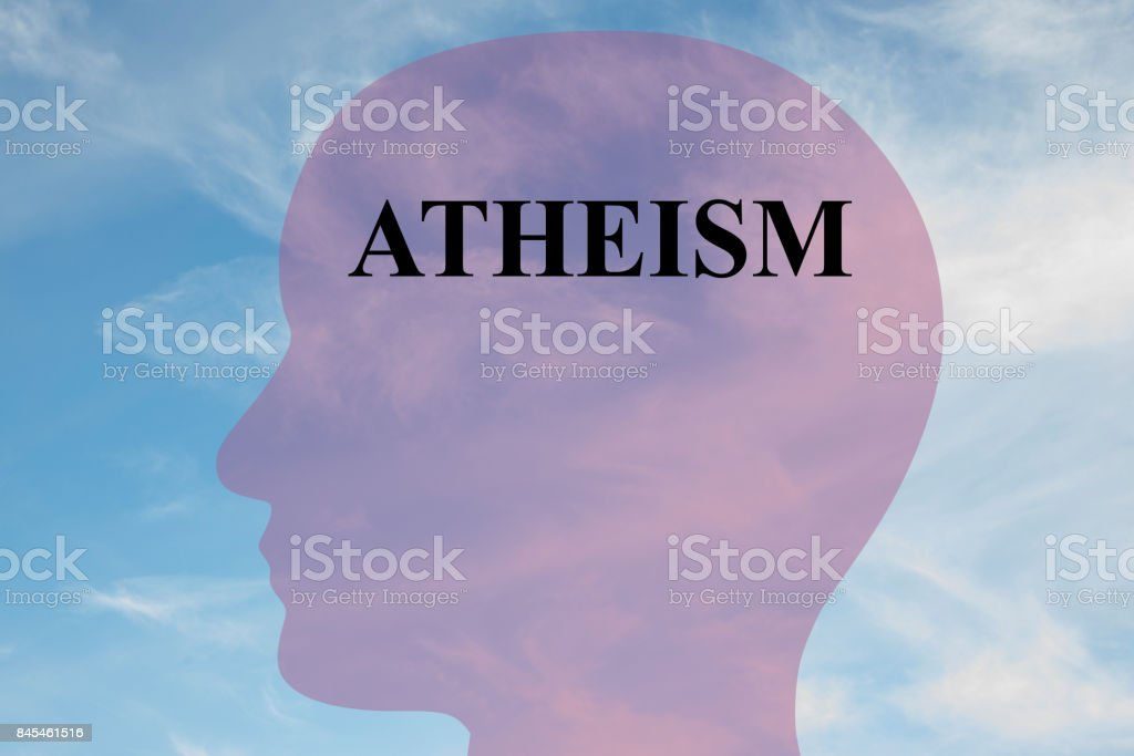 Atheism concept stock photo