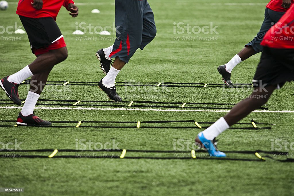 Athelete training for soccer stock photo
