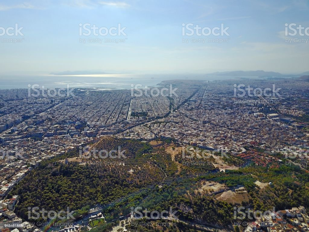 Athen from above stock photo