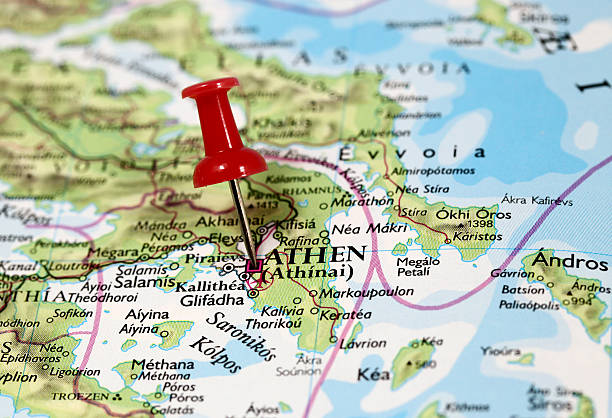 Athen in Greece stock photo