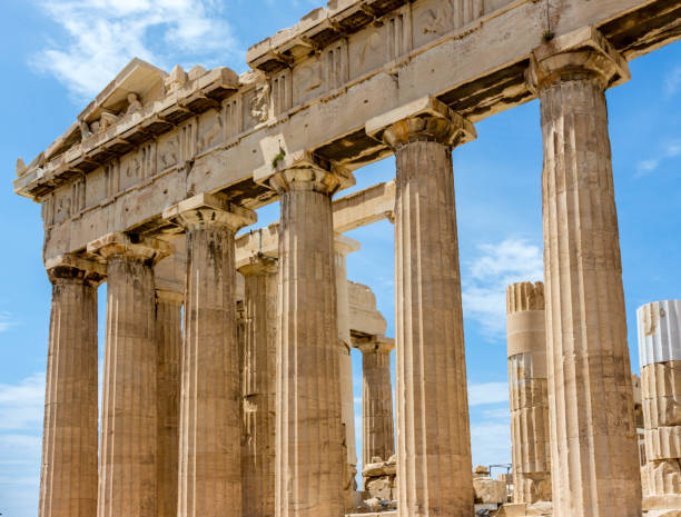 Athen Tempel stock photo