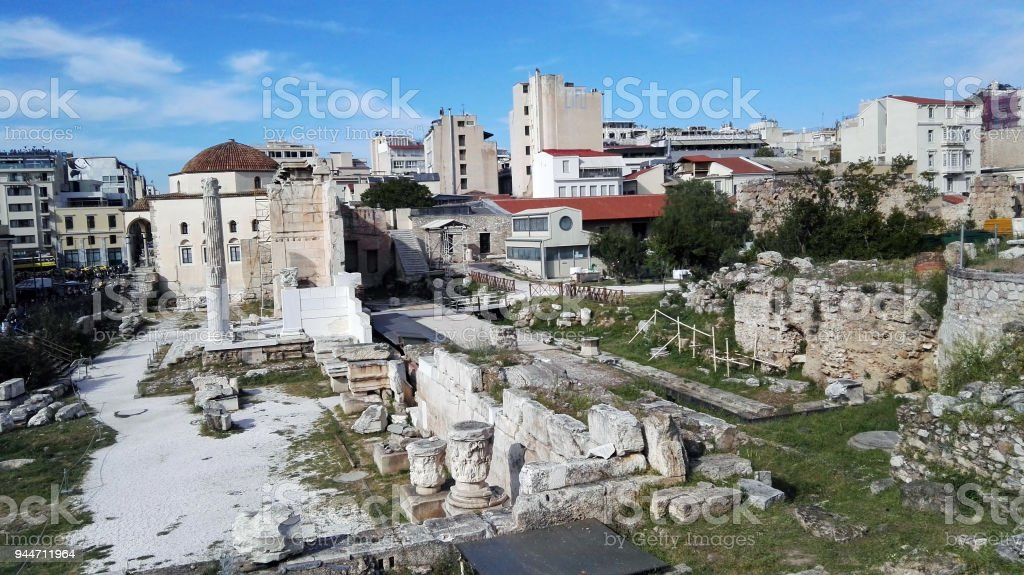 Athen the antic greece stock photo