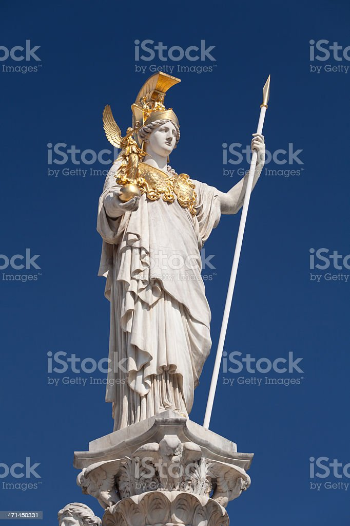Athena, goddess of greek mythology royalty-free stock photo