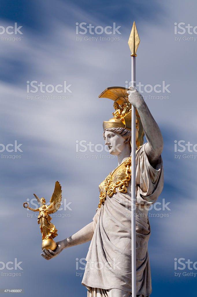 Athena, goddess of greek mythology stock photo