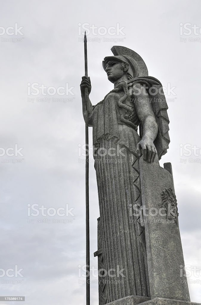 Athena, goddess of war, wisdom and  knowledge royalty-free stock photo
